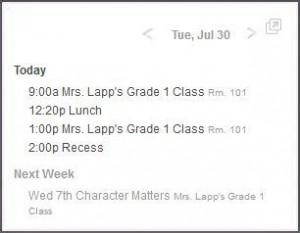 Schedule panel